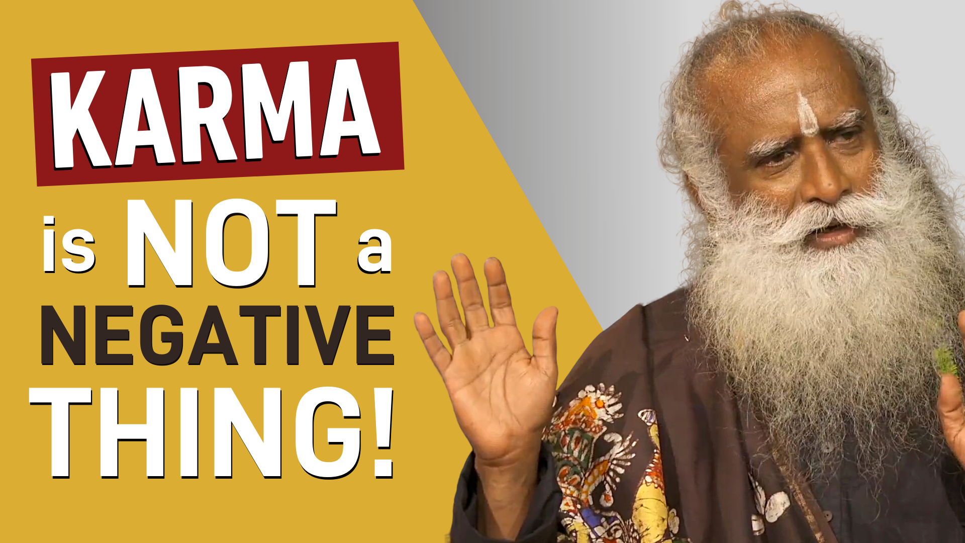 Karma is NOT a Negative Thing | Sadhguru